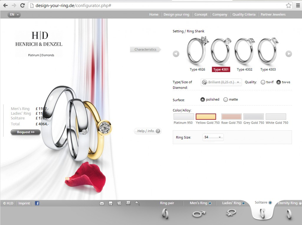 jewelry site design best